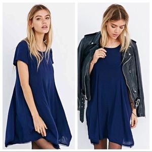 UO Silence + Noise Blue Witchy Dress | S
